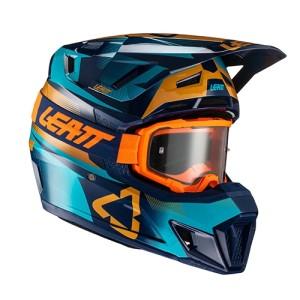 Promotie Casca Leatt  7.5 Blue  + Ochelari Leatt Velocity 4.5