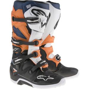 Promotie Cizme Alpinestars Tech 7 Black/Orange/White/Blue