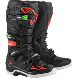 Promotie Cizme Alpinestars Tech 7 Black/Red/Green