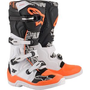 Cizme Alpinestars Tech 5 White/Black/Orange Fluo