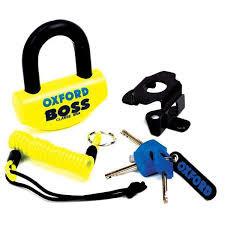 Cablu Oxford Antifurt cu Lacat Big Boss 16mm Galben