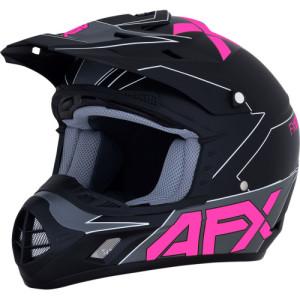 Casca AFX FX-17 Aced Black/Gray/Pink