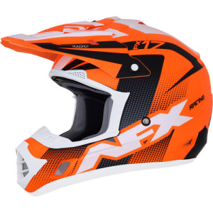 Casca AFX FX-17 Holeshot Black/Fluorescent Orange/White