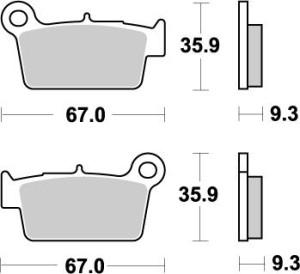 Placute frana spate BETA/Yamaha/Suzuki/GasGas/TM Moto-Master Nitro