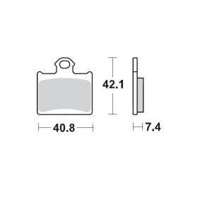 Placute frana spate KTM Freeride/SX85 12-19 Moto-Master Pro Racing