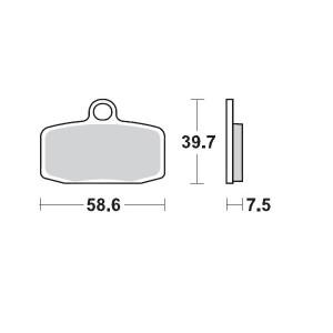 Placute frana fata KTM Freeride/SX85 12-19 Moto-Master PRO GP