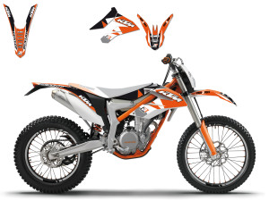 Kit stickere KTM Freeride 14-16 Blackbird