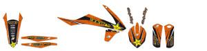 Kit grafice KTM 14-16 Blackbird Rockstar cu husa de sa