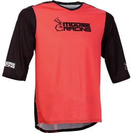 Tricou Moose Racing MTB 3/4 Red/Black