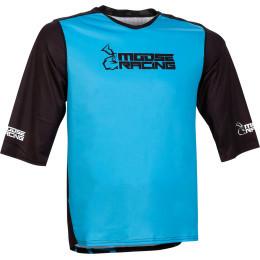 Tricou Moose Racing MTB 3/4 Blue/Black