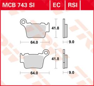 Placute frana spate KTM TRW 04-19 RSI