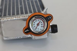 CAPAC RADIATOR CU TERMOMETRU KTM 08-16 ORANGE