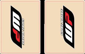 Kit stickere furca WP transparente Red Black
