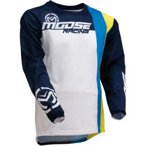 Tricou Moose Racing SAHARA White/Navy/Yellow