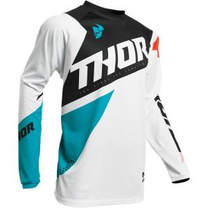 Tricou THOR Sector Blade White/Aqua