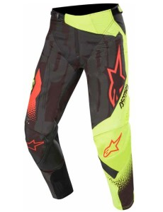 Pantaloni ALPINESTARS Techstar Factory Black/Yellow Fluo/Red Fluo