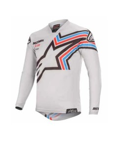 Tricou ALPINESTARS Racer BRAAP Black/Light Gray