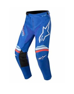 Pantaloni ALPINESTARS Racer BRAAP Blue/Off White
