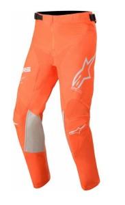Pantaloni copii ALPINESTARS Racer Tech Orange Fluo/White/Blue