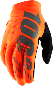 Manusi 100% Brisker  Fluo Orange/Black