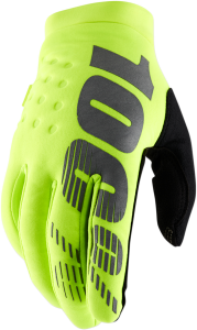 Manusi 100% Brisker  Fluo Yellow/Black