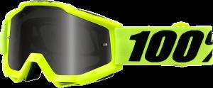 Ochelari 100% Accuri Fluo Yellow Sand Silver Mirror