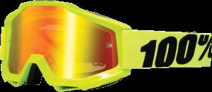 Ochelari 100% Accuri FluoYellow Red Mirror - inclus lentila clara