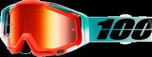 Ochelari 100% Racecraft Cubica Mirror Red Lentila