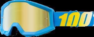 Ochelari 100% Strata Blue Mirror Gold