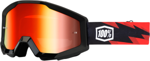 Ochelari 100% Strata Slash Red Mirror