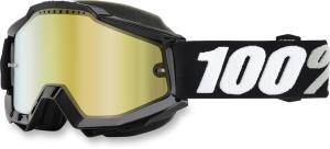 Ochelari snowmobil 100% Accuri Tornado Gold Mirror Lentila