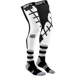 Sosete 100% Knee Brace REV Black/White