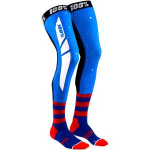 Sosete 100% Knee Brace REV Blue/Red