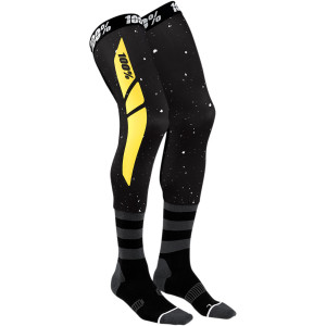 Sosete 100% Knee Brace REV Black/Yellow