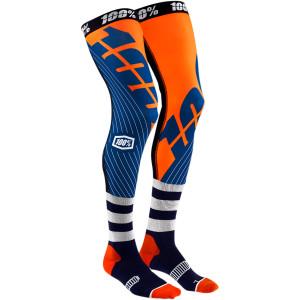 Sosete 100% Knee Brace REV Navy/Orange