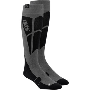 Sosete 100% Performance Hi-Side Black/Steel gray