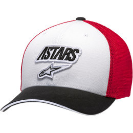 Sapca ALPINESTARS Race Angle Mesh White/Black/Red