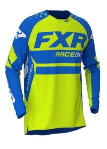 Tricou FXR Revo MX Blue/Hi Vis/White