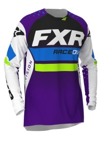 Tricou FXR Revo MX White/Purple/Lime