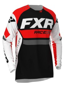 Tricou FXR Revo MX White/Red/Char/Black