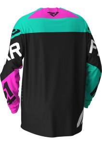 Tricou FXR Podium MX Black/Mint/Elec Pink