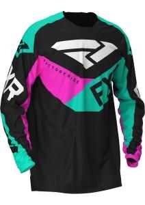 Tricou FXR Podium MX Black/Mint/Elec Pink