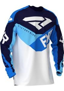 Tricou FXR Podium Air MX White/Navy/Blue