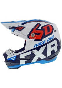 Casca FXR 6D ATR-2 Race Div White/Navy/Blue/Nuke Red