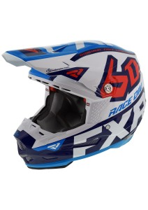 Casca copii FXR 6D ATR-2Y Patriot Wht/Navy/Blue/Nuke Red
