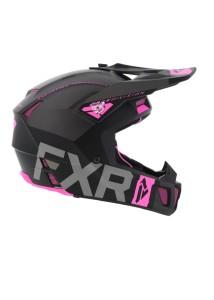 Casca FXR Clutch Evo Black/Char/Elec Pink