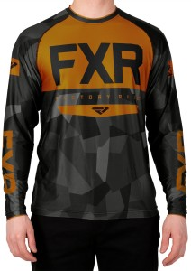 Tricou FXR M Helium X Tech Char Camo/Orange
