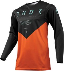 Tricou Thor Prime Pro Jet Black/Red Orange