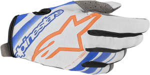 Mănuși Alpinestar Radar Mid Cool Gray Blue Orange Fluo