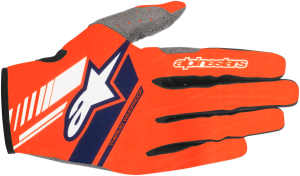 Mănuși Alpinestar Neo Orange Fluo Dark Blue